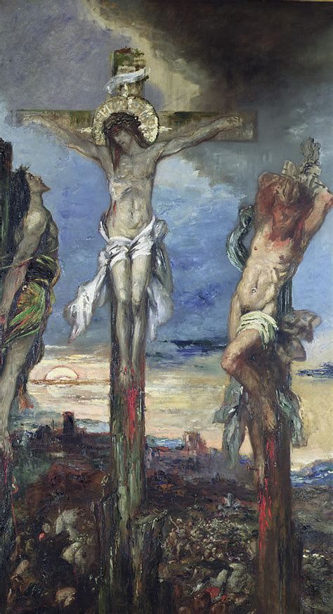 Christian Two between the two thieves by gustave moreau