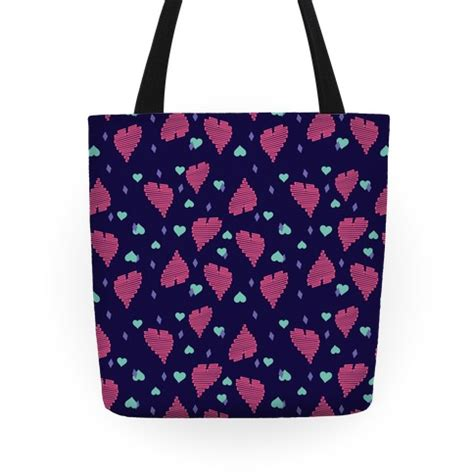 heart tote bag pattern neon heart pattern tote bags grocery bags and canvas
