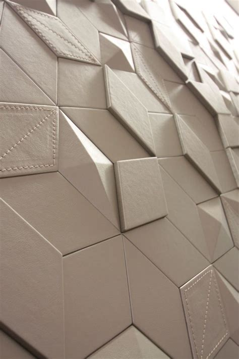 tile pattern diamond 3d leather diamond wall by harcourt design leather