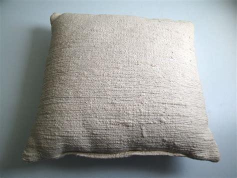 woven pillow white haitian cotton vintage 1970 mod