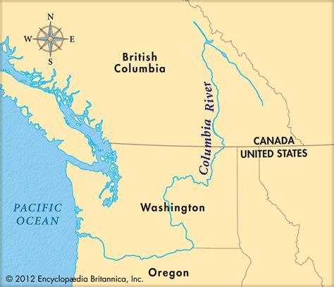 columbia river map usa kolumbien fluss karte