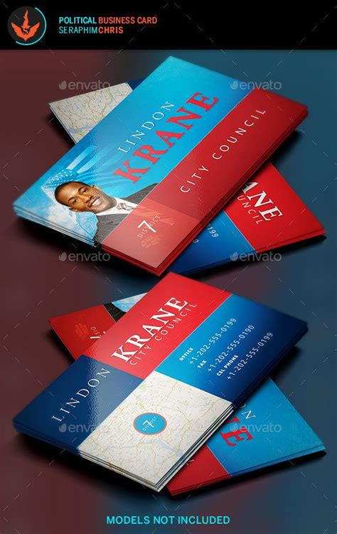 political caign business card templates political business card template 6 card templates