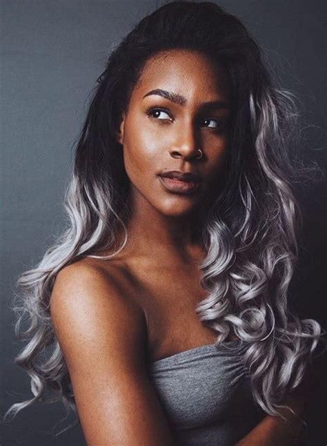 pics of black women hair ends colored 40 glamorous ash blonde and silver ombre hairstyles ash