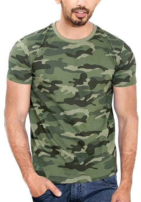 Army Print T Shirt Mens by Wyo S Cotton Camouflage Army Print T Shirt Offers Discount Coupon All In One Coupon