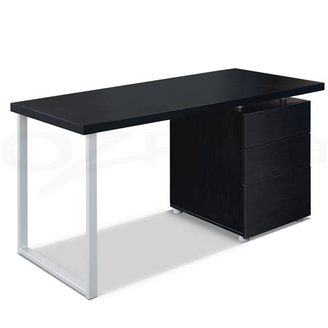 black computer desk wooden gloss furniture the elegance of black desk with drawers codecoration fabulous home interior ideas