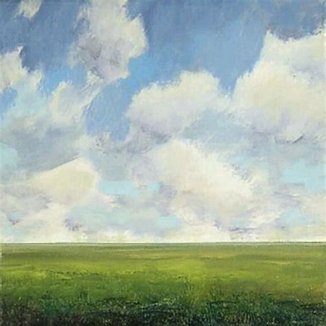 Landscape Artists Fields Large Landscape Painting 48x48 Custom Modern Abstract