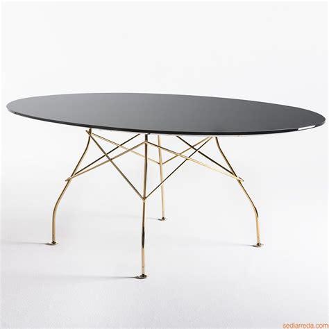 tavolo ovale design glossy tavolo kartell di design in metallo piano ovale