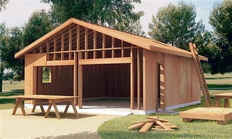 how to build a one car garage project plan 6022 the how to build garage plan