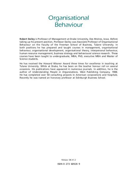 Mba Text by 72520239 Organisational Behaviour Mba Text