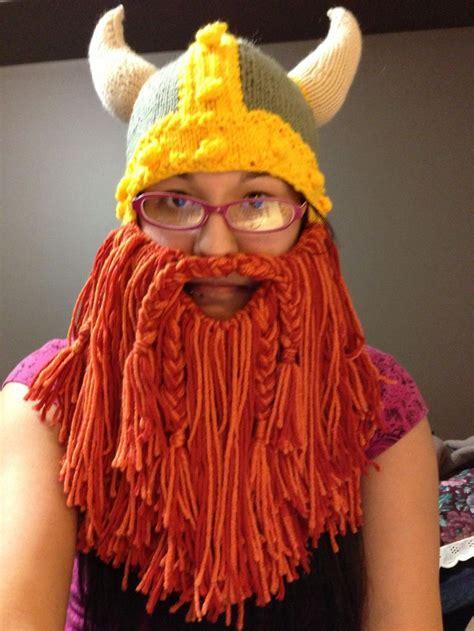 knit viking hat with beard pattern viking hat with epic beard knitting knitting