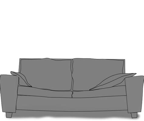 couch svg gray couch silhoette clip art at clker com vector clip