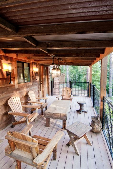 charming rustic deck designs  offer  ultimate