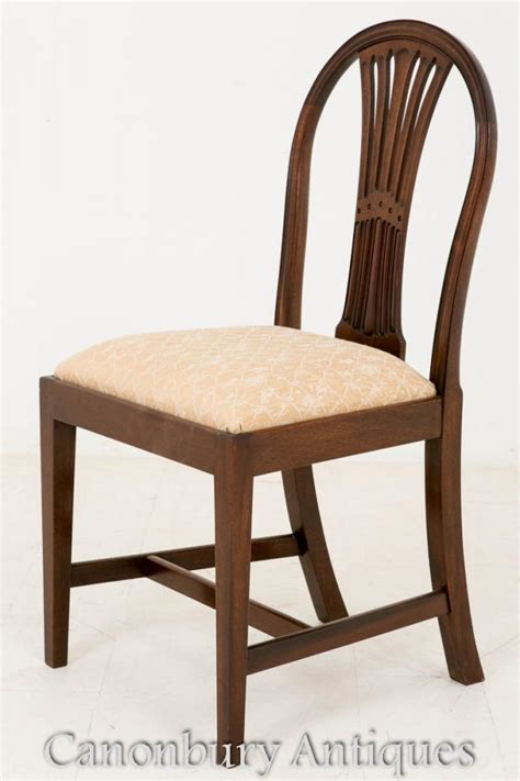 Hepplewhite Dining Chairs 10 Mahogany Hepplewhite Dining Chairs