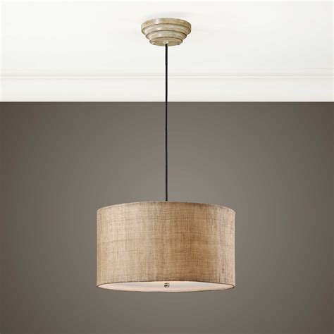 Burlap Pendant Light Uttermost Dafina Burlap Three Light Drum Pendant 21933
