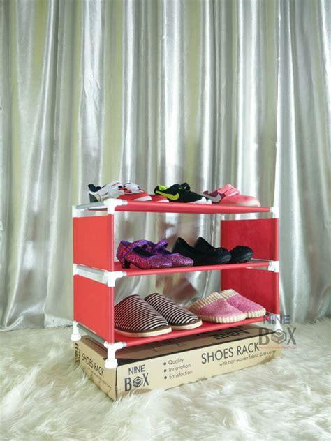 Rak Sepatu Portable 9 Susun jual rak portable nine box serbaguna type w3 rak sepatu 3