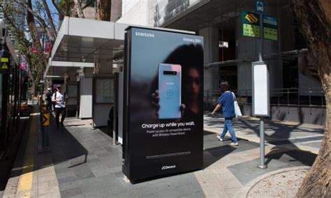 samsung places wireless ooh charging stations  bus stops  cbd marketing interactive