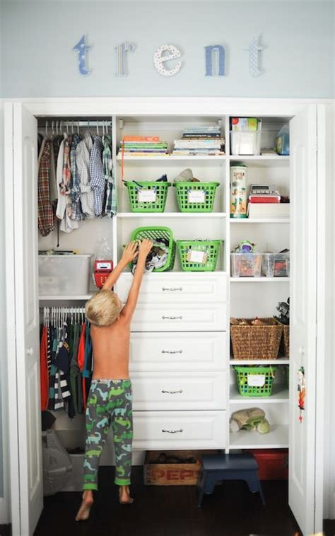 Org Closets by Closet Organization For A Boy For The Home