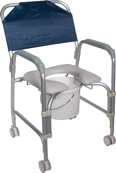 Commode Stool by Lightweight Portable Shower Chair Commode With Casters
