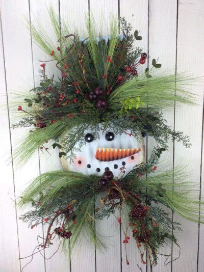 diy snowman wreaths   inhabit zone