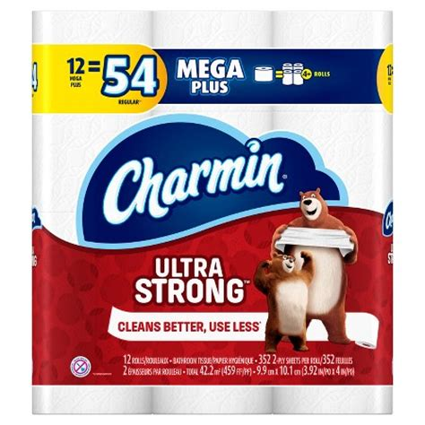charmin ultra strong toilet paper 12 mega plus rolls target