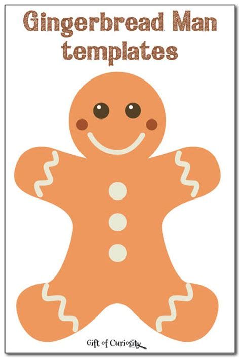 gingerbread man cookie printable gingerbread man templates gift of curiosity