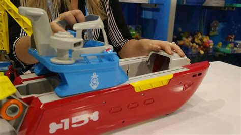paw patrol boat toys new paw patrol sea patroller toy fair 2017 youtube
