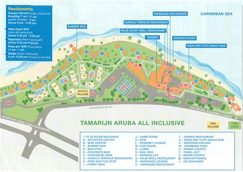 divi tamarijn aruba all inclusive resorts tamarijn aruba all inclusive resort map