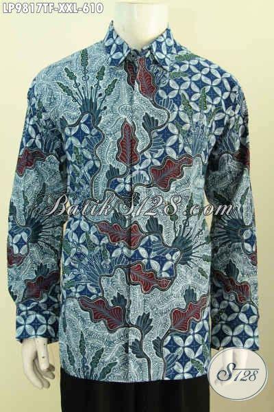 Kemeja Batik Lengan Panjang Bigsize batik hem big size baju batik pria gemuk lengan panjang