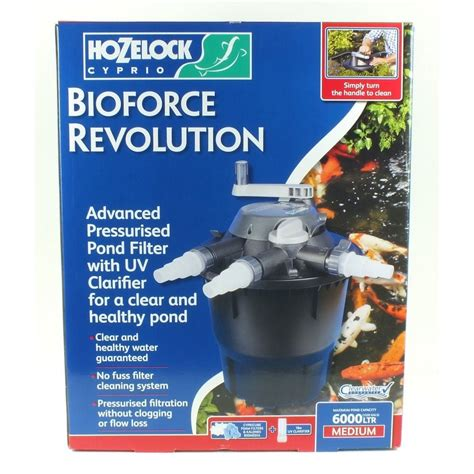 hozelock bioforce revolution 6000 pond filter hozelock