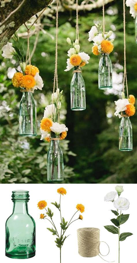 Easy and low cost wedding decorations! Make this beautiful