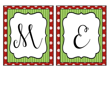 Merry Christmas Printable Banners Happy Holidays Merry Letter Template