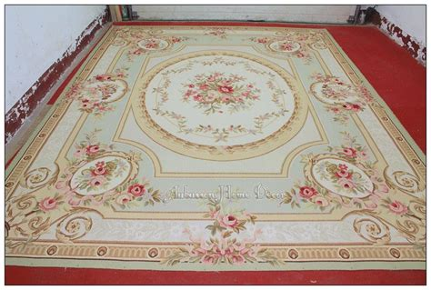 9x12 pastel green ivory pink aubusson area rug carpet free