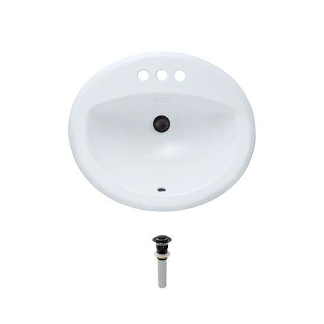 mr direct bathroom sinks mr direct overmount porcelain bathroom in white with