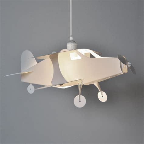 childrens boys bedroom nursery aeroplane ceiling pendant