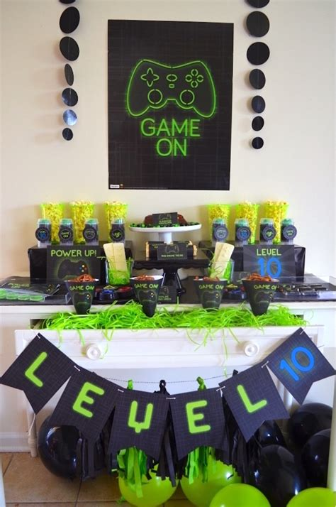 themed gamer party kara s party ideas gaming video gamer birthday party