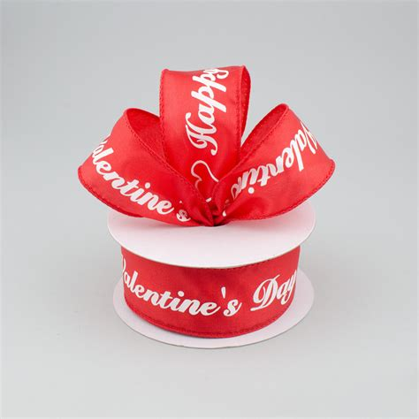 valentines day ribbon 1 5 quot happy s day script ribbon 10 yards