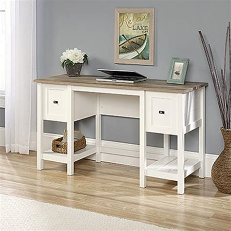 Sauder Cottage Road Soft White Desk 418072 The Home Depot Sauder Desk White