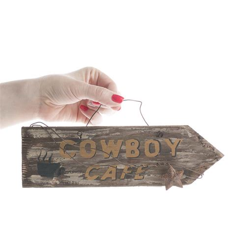 distressed wood home decor distressed wood quot cowboy cafe quot arrow sign wall decor