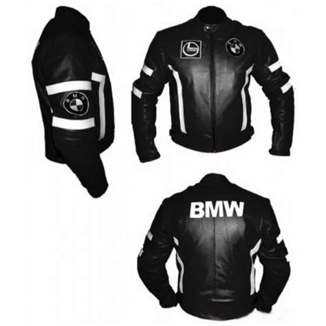 Bmw Leather Jacket by Buy Bmw S Black Motorcycle Jacket With White Stripes