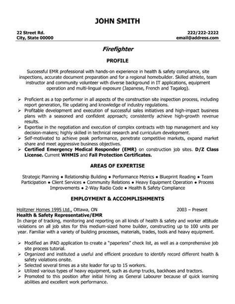 Firefighter Resume Template   Premium Resume Samples & Example