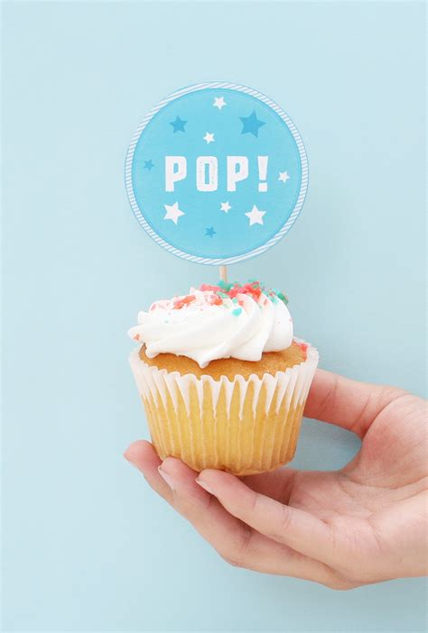 4th Of July Cupcake Topper Printables