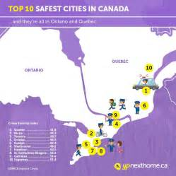 what are the safest cities in canada