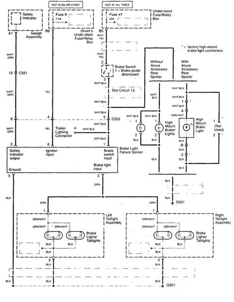 acura tl  wiring diagrams stop lamp carknowledge