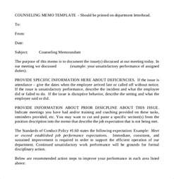 counseling memo template notice memo business lovetoknow 8 disciplinary memo