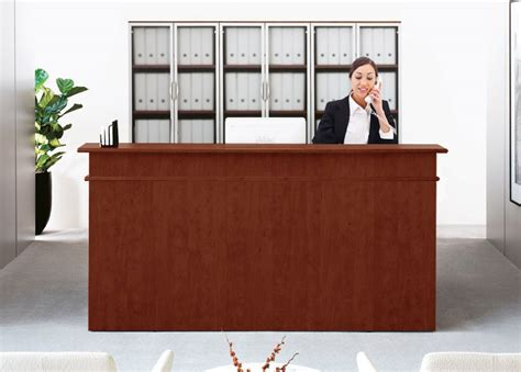 Office Receptionist Desk Classic Custom Standing Height Reception Desk 5 W