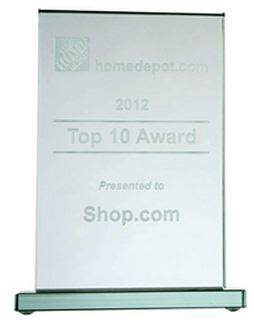 shop recognized as a top affiliate by home depot