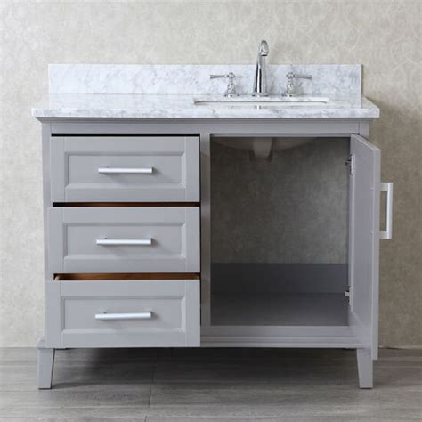 42 vanities for bathrooms nantucket 42 single sink bathroom vanity set with mirror