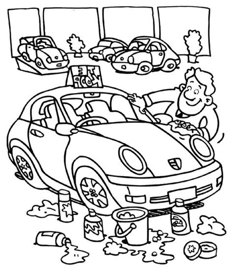 coloring page car wash car wash cartoon coloring for kids jocs diversos