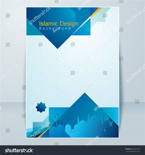 design banner islamic islamic banner design background template stock vector