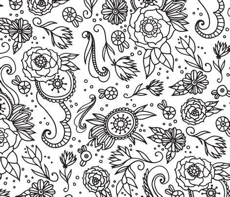 coloring book fabric floral coloring book fabric fabric erinmswilliams